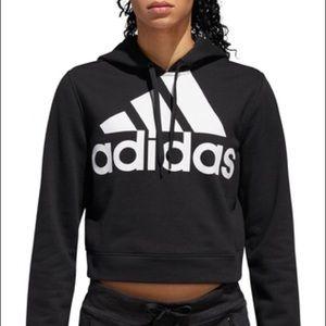 adidas women's french crop top hoodie